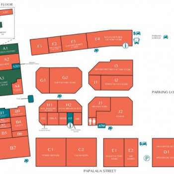 Plan of mall Outlets of Maui