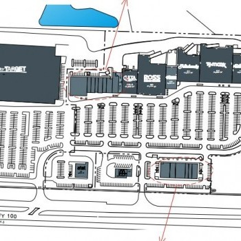 Plan of mall Palm Coast Landing at Town Center