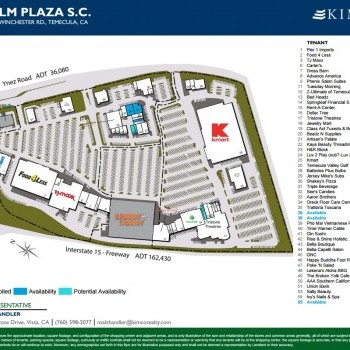 Plan of mall Palm Plaza Shopping Center