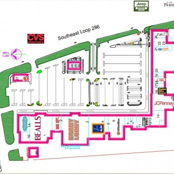 Plan of mall Paris Towne Center