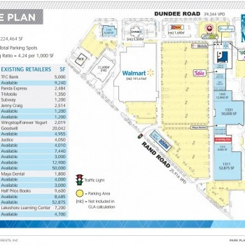 Plan of mall Park Place Shopping Center - Palatine