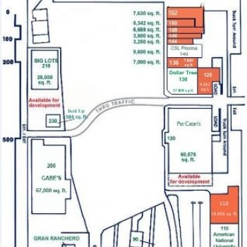 Plan of mall Park Shopping Center