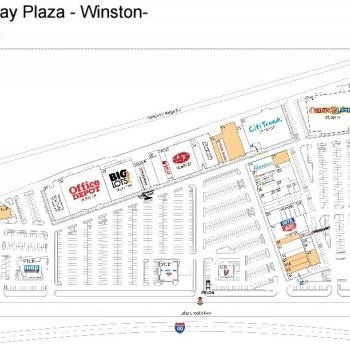 Plan of mall Parkway Plaza Shopping Center