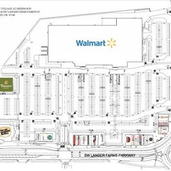 Plan of mall Parkway Village at Sherwood