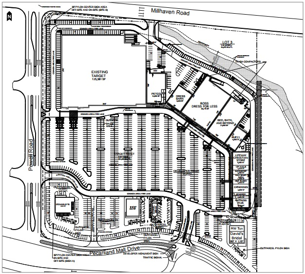 Pecanland Mall Map Pecanland Commons   store list, hours, (location: Monroe  Pecanland Mall Map