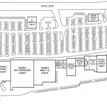 Plan of mall Pembroke Crossing