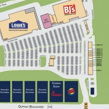 Plan of mall Peninsula Crossing