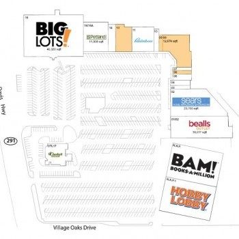 Plan of mall Pensacola Square