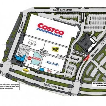 Plan of mall Pentagon Centre