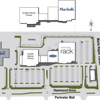 Plan of mall Perimeter Expo