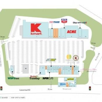 Plan of mall Pike Creek Shopping Center