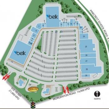 Plan of mall Pinecrest Plaza