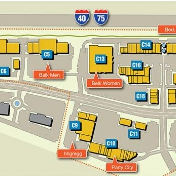 Plan of mall Pinnacle Turkey Creek