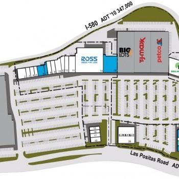 Plan of mall Plaza 580 Shopping Center