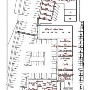 Plan of mall Plaza at Delray Shopping Center