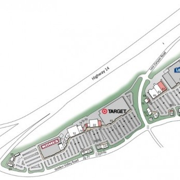 Plan of mall Plaza at Golden Valley