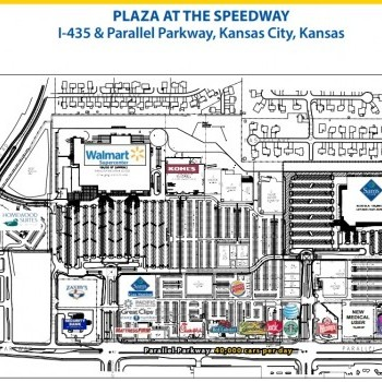 Plan of mall Plaza at the Speedway