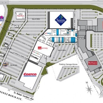 Plan of mall Plaza Centro - Costco