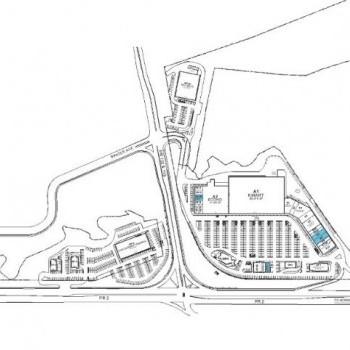 Plan of mall Plaza del Oeste