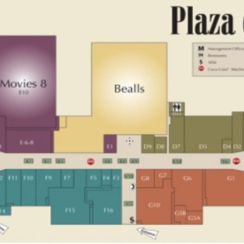 Plan of mall Plaza Del Sol Mall
