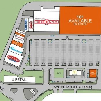 Plan of mall Plaza Vega Baja