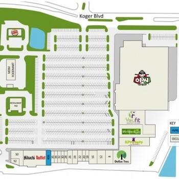 Plan of mall Pleasant Hill Plaza
