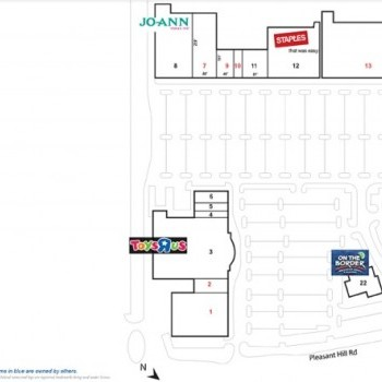 Plan of mall Pleasant Hill Square