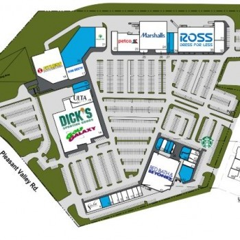 Plan of mall Pleasant Valley Promenade