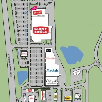 Plan of mall Powell Center