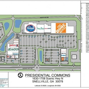 Plan of mall Presidential Commons