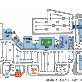 Plan of mall Presidential Markets