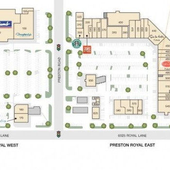 Plan of mall Preston Royal Shopping Center