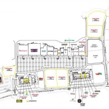 Plan of mall Promenade At Carolina Reserve