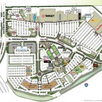 Plan of mall Promenade at Sacramento Gateway