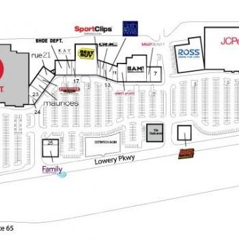 Plan of mall Promenade Fultondale