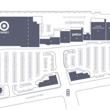 Plan of mall Pu'unene Shopping Center