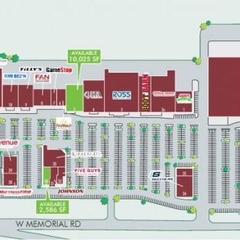 Plan of mall Quail Springs Marketplace