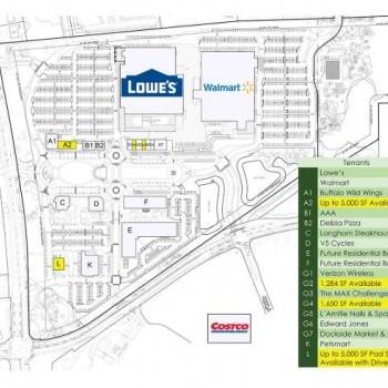 Plan of mall Raritan Town Square