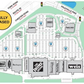 Plan of mall Red Rose Commons