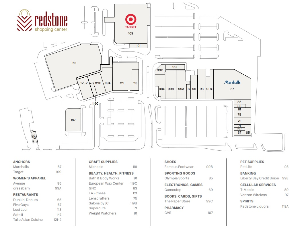 Marshalls in Redstone Shopping Center - store location, hours