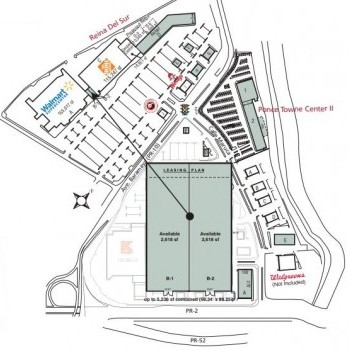 Plan of mall Reina del Sur & Ponce Towne Center II
