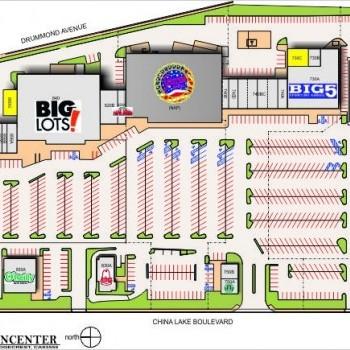 Plan of mall Ridgecrest Town Center