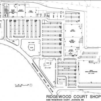 Plan of mall Ridgewood Court