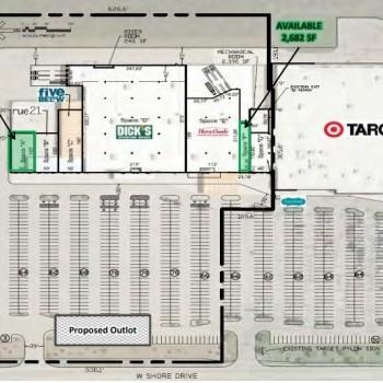 Plan of mall Riley Center