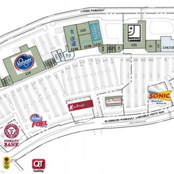 Plan of mall River Exchange Shopping Center