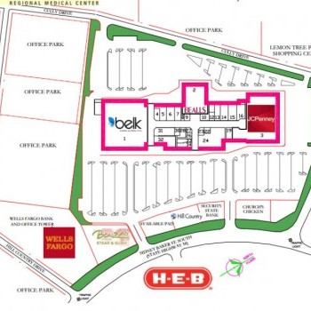 Plan of mall River Hills Mall