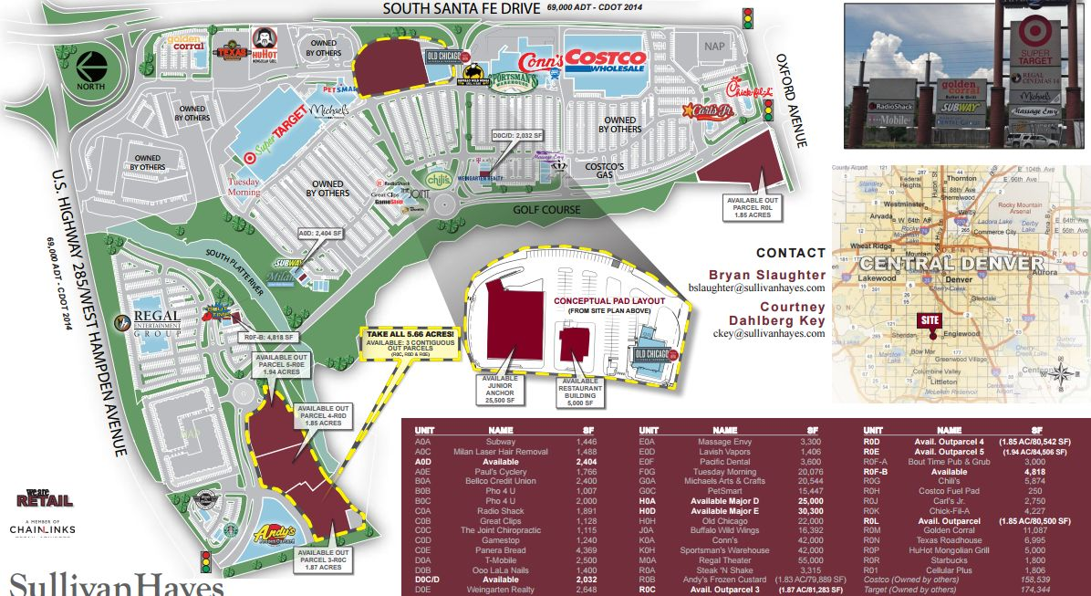 Sheridan Colorado Map.River Point At Sheridan Store List Hours Location Sheridan