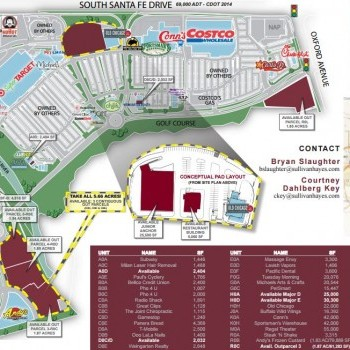 Plan of mall River Point at Sheridan