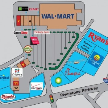 Plan of mall River Pointe Shopping Center