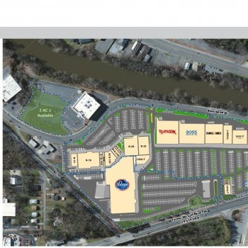 Plan of mall Riverbend Shopping Center